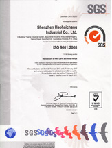 HHC ISO 9001 Certificate