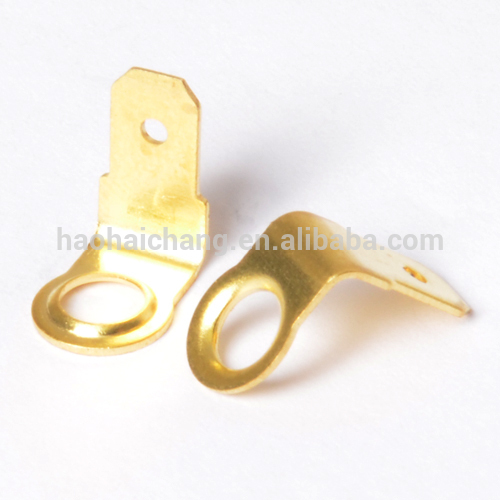 brass round crimp terminals