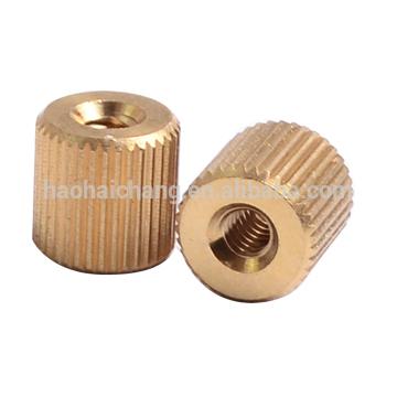 Brass CNC hex nut with thread