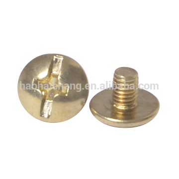 brass phillips truss head machine screw